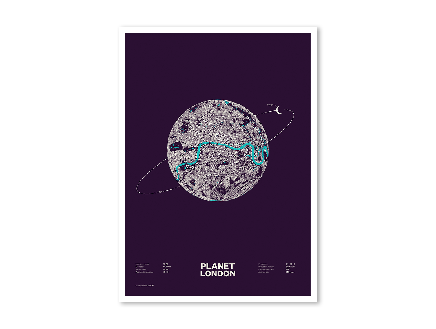 Poster design london - Planet London Is Generated From An Open Dataset Of Building Outlines Published By Ordinance Survey We Took The Traditionally Flat Map Projection In Which